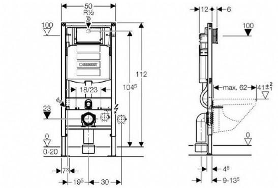 duofix montageelement haustechnik j denberg. Black Bedroom Furniture Sets. Home Design Ideas