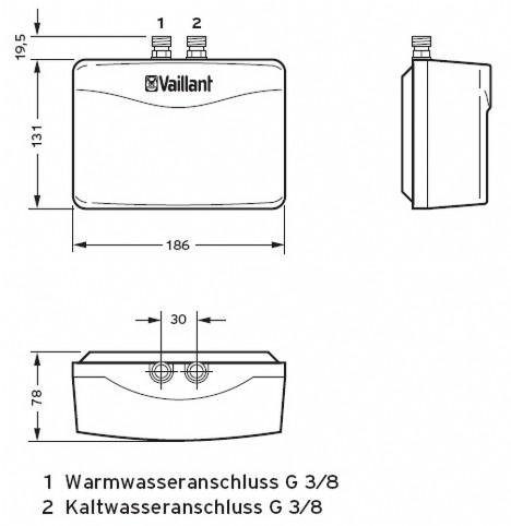 vaillant elektro durchlauferhitzer minived h 3 2 n bis h 6 2 n haustechnik j denberg. Black Bedroom Furniture Sets. Home Design Ideas