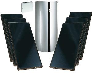 viessmann solarpaket zur trinkwassererw rmung und heizungsunterst tzung mit vitosol 200 f. Black Bedroom Furniture Sets. Home Design Ideas