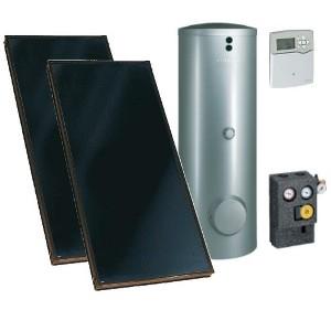 Viessmann solarpaket mit vitosol 200 fm und silbernem for Viessmann vitosol 200 fm